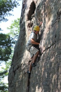 guided rock climbing outing