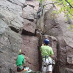 Climbing the Tallest Route at Misery Rocks