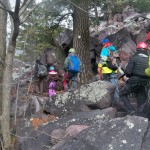 Boy Scouts Hiking to Balanced Rock