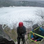 Boy Scout Rappel  at Balanced Rock, Devil's Lake State Park