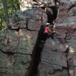 Rock Climbing at Devil's Lake