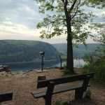 The outlook of the West Bluff of Devils Lake