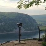 The outlook on the West Bluff of Devils Lake