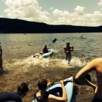 arrowhead students kayaking